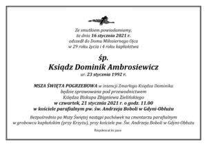0001 3 300x212 Odszedł ks. Dominik Ambrosiewicz